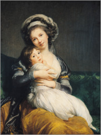 Elisabeth Louise Vigee-Lebrun - Elisabeth Louise Vigee-Lebrun with turban and child