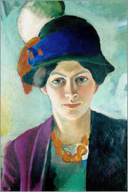 August Macke - Elizabeth in a hat