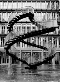 Endless steel stairway in Munich