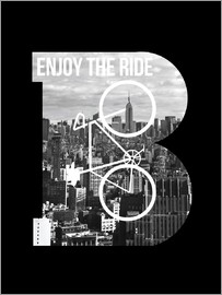 Nory Glory Prints - Enjoy the ride bicycle graphic monogram