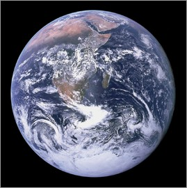 Earth view from Apollo 17 moon mission