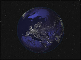 Stocktrek Images - Earth at night - Europe