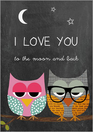 GreenNest - Owls -  I love you to the moon and back