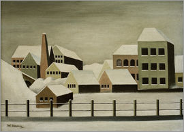 Carl Grossberg - Factory landscape in snow