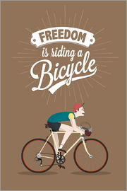 Freedom is riding a bicycle