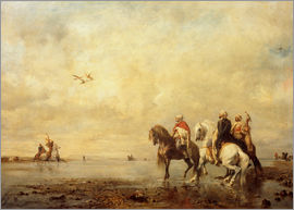Eugene Fromentin - A falcon hunt in the Sahara desert