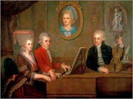 Johann Nepomuk della Croce - The Mozart family making music