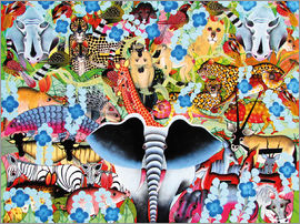 Zuberi - Colorful collage of Africa