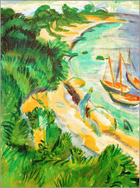 Ernst Ludwig Kirchner - Fehmarn bay with boats