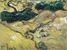 Vincent van Gogh - Field with Two Rabbits