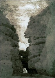 Caspar David Friedrich - Rock gate Uttenwalder Grund