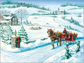 John Bindon - Festive Ride Horsecarriage