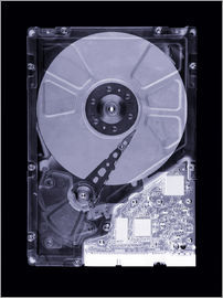 Mark Sykes - Computer hard disk, simulated X-ray