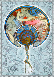 Alfons Mucha - Figures Decoratives, Collage