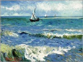 Vincent van Gogh - The Sea at Saintes-Maries-de-la-Mer