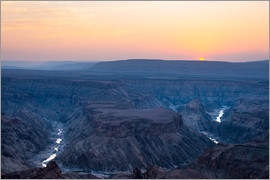 Fabio Lamanna - Fish River Canyon at sunset, travel destination in Namibia