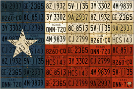Design Turnpike - Flag of Texas License Plate Art