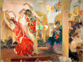Joaquin Sorolla y Bastida - Flamenco at the café Novedades, Seville