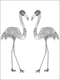 Sharon Turner - Flamingo couple