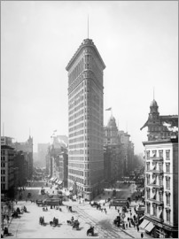 Glasshouse - Flatiron Building, Broadway and Fifth Avenue, New York City, USA, circa 1905