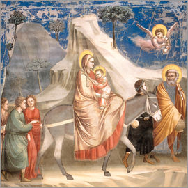 Giotto di Bondone - The Flight to Egypt