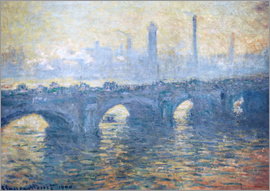 Claude Monet - River Thames in London, Waterloo Bridge