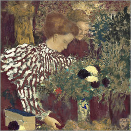 Edouard Vuillard - Woman in a Striped Dress