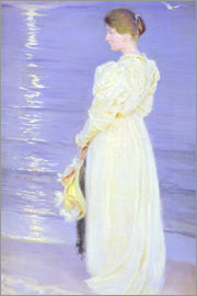 Peder Severin Kroyer - Woman in White on a Beach