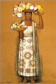Alfredo Ramos Martinez - woman with flowers