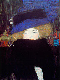 Gustav Klimt - Woman with Hat and Feather Boa