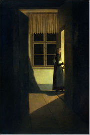 Caspar David Friedrich - The Woman with the Candlestick