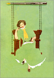 Clarence Coles Phillips - Woman writes with a pen