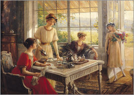 Albert Lynch - Women Taking Tea