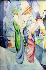 August Macke - Women in front of a hat shop