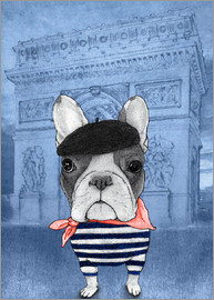 Barruf - Frenchie With Arc De Triomphe