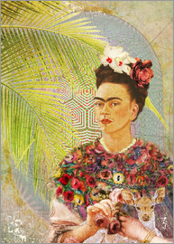 Moon Berry Prints - Frida Kahlo con cervatillo