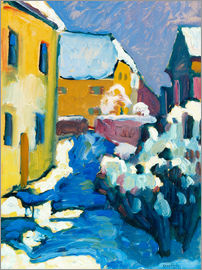 Wassily Kandinsky - Cemetery and vicarage in Kochel