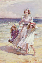 William Kay Blacklock - A Breezy Day at the Seaside