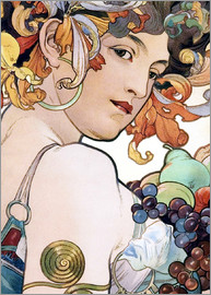 Alfons Mucha - Fruit, detail I