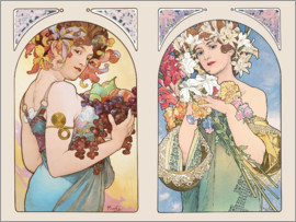 Alfons Mucha - Fruit & Flower