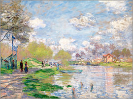 Claude Monet - Spring by the Seine