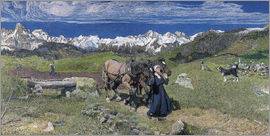 Giovanni Segantini - Spring in the Alps