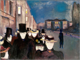 Edvard Munch - Spring Evening on Karl Johann Street