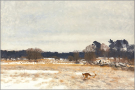 Bruno Andreas Liljefors - Fox in the countryside