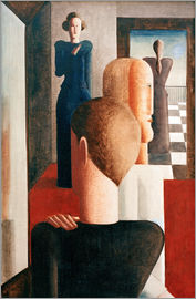 Oskar Schlemmer - Five figures in a space (Roman)