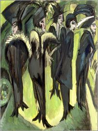 Ernst Ludwig Kirchner - Five women on the Strasse