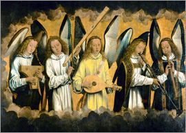 Hans Memling - Five musical angels