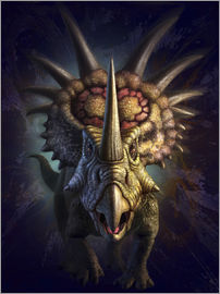 Jerry LoFaro - Full on view of the horned dinosaur, Styracosaurus.