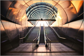 Dennis Fischer - Futuristic Metro entrance in Prague
