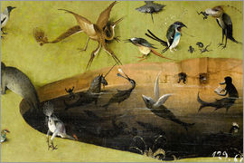 Hieronymus Bosch - Garden of Earthly Delights, Paradise (detail)